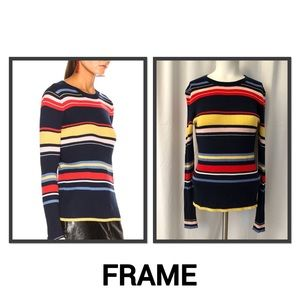 Frame Multi Colored Striped Sweater